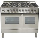 """40"""" - 6 Burner, Double Oven in Stainless Steel Product Image"""