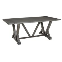 Rectangular Dining Table - Harbor Gray Finish