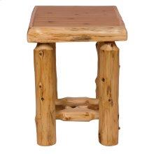 Cedar Open Nightstand - Traditional Cedar