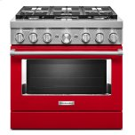 KitchenaidKitchenAid(R) 36'' Smart Commercial-Style Dual Fuel Range with 6 Burners Passion Red