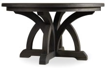 Dining Room Corsica Dark Round Dining Table w/1-18in Leaf