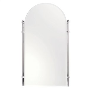 "Polished Chrome 26"" x 38"" Large Framed Mirror"