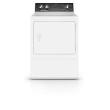 27 Inch Gas Dryer with 4 Preset Cycles, White