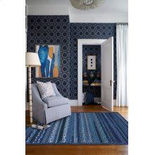 Bayview Twilight Blue Braided Rugs (Custom)