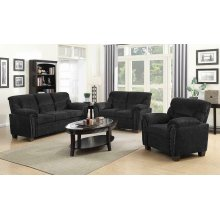 Clemintine Grey Three-piece Living Room Set