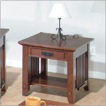 End Table W/ Drawer and Shelf