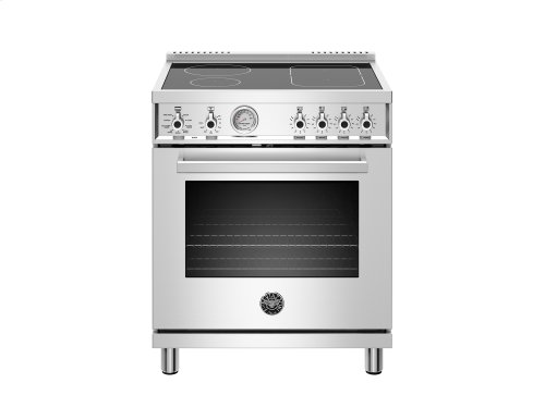 30 inch Induction Range, 4 Heating Zones, Electric Oven Stainless