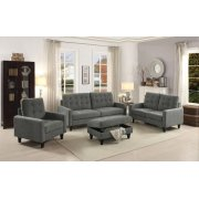 GRAY FABRIC LOVESEAT Product Image