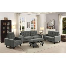 GRAY FABRIC LOVESEAT