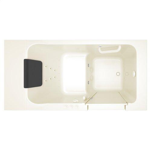 Luxury Series 30x51-inch Right Drain Walk-In Tub  Combo Massage Tub  American Standard - Linen