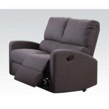 Gray Fabric Motion Loveseat