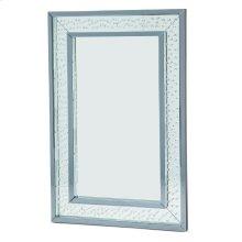 Rect Wall Decor Crystal Framed Mirror