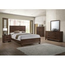 Brandon Transitional Medium Brown Eastern King Five-piece Set