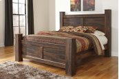 Quinden - Dark Brown 3 Piece Bed Set (King)