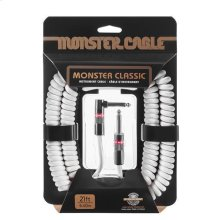 Prolink® Monster Classic Pro Audio Instrument Cable Coiled - 21 ft. / White