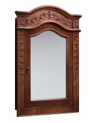 Vintage Style Solid Wood Framed Medicine Cabinet in Colonial Cherry Product Image
