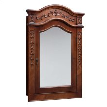 Vintage Style Solid Wood Framed Medicine Cabinet in Colonial Cherry