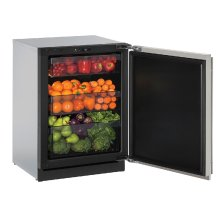 """Modular 3000 Series 24"""" Solid Door Refrigerator With Stainless Solid Finish and Field Reversible Door Swing (115 Volts / 60 Hz)"""