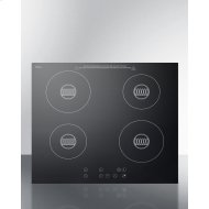 "24"" Wide 230-v 4-burner Induction Cooktop"