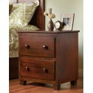 Atlantic 2 Drawer Night Stand in Walnut Product Image