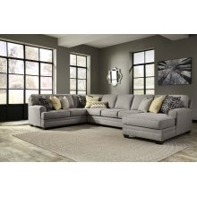 Cresson - Pewter Right Chaise, Left Loveseat, Wedge, Armless Sofa