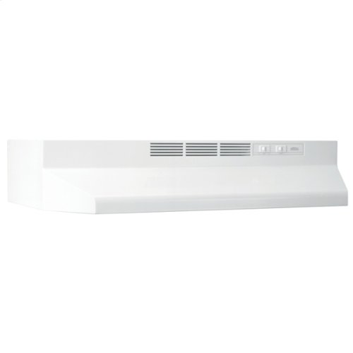 """21"""" Ductless Under-Cabinet Range Hood with Light in White"""