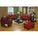 Samuel Transitional Red Ottoman Product Image