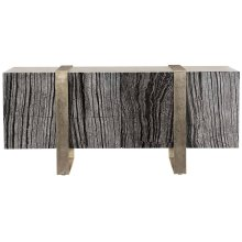 Linea Entertainment Console in Black Forest Marble (384)
