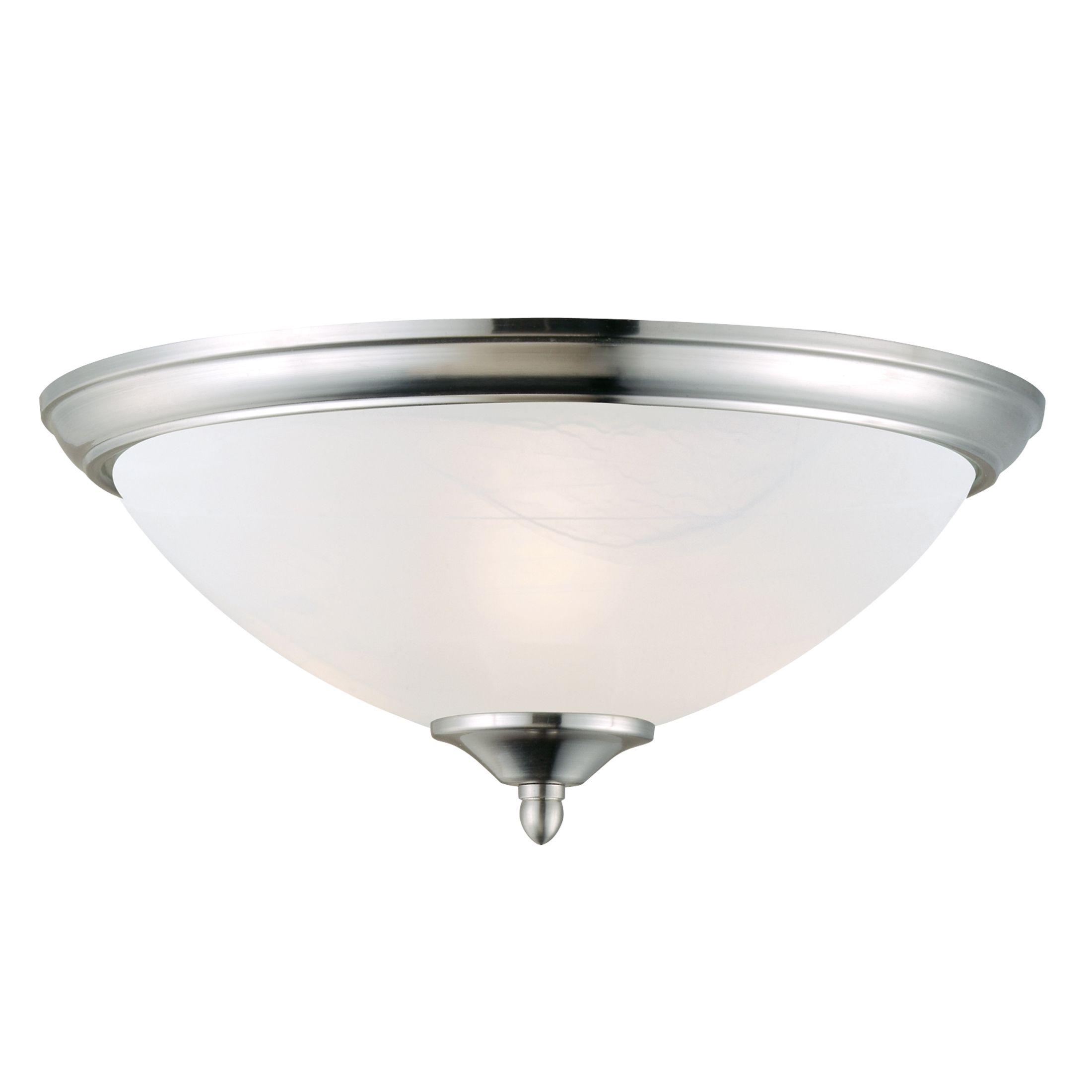 Trevie 2-Light Ceiling Light, Satin Nickel #512475