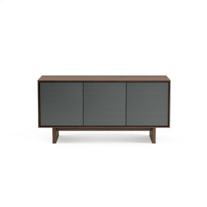 Triple Width Media Cabinet 8377 Gfl in Toasted Walnut -