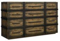 Bedroom Crafted Twelve-Drawer Dresser Product Image