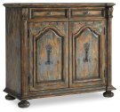 Living Room Two-Door Two-Drawer Chest w/Bun Feet Product Image