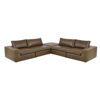 Derby 5pc Sectional Tobacco