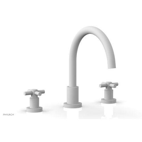 BASIC Deck Tub Set - Tubular Cross Handles D1134C - Satin White