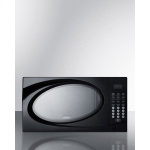 SummitMid-sized Microwave Oven With Black Finish