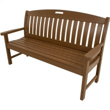 Avalon All-Weather 60 In. Porch Bench in Teak