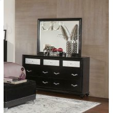 Barzini Seven-drawer Dresser With Metallic Drawer Front