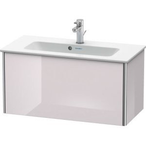 Vanity Unit Wall-mounted Compact, White Lilac High Gloss Lacquer