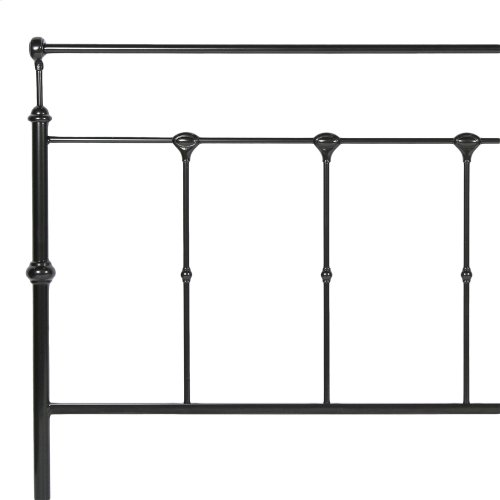 Winslow Complete Bed with Metal Panels and Aluminum Castings, Mahogany Gold Finish, King