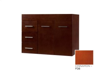 "Bella 31"" Wall Mount Bathroom Vanity Base Cabinet in Cinnamon - Doors on Right Product Image"