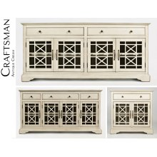 "Craftsman 60"" Media Unit - Antique Cream"