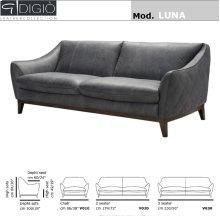 Luna Leather Loveseat
