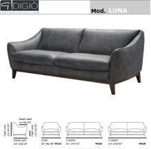 Luna Leather Loveseat