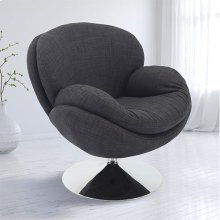 Scoop Leisure Accent Chair in Anthracite Fabric