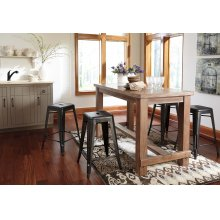 Pinnadel - Grayish Brown 5 Piece Dining Room Set