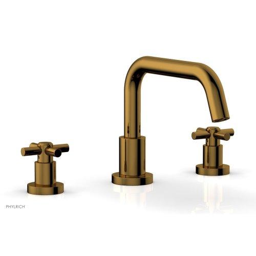 BASIC Deck Tub Set - Tubular Cross Handles D1136D - French Brass