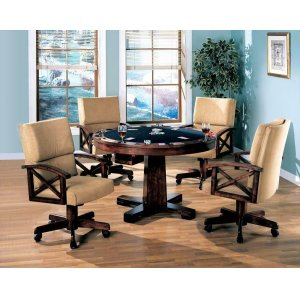 CoasterMarietta Casual Tobacco Dining/game Table and Four Chairs