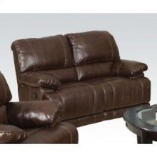 Chestnut Loveseat W/motion