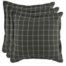 Hudson Plaid 3Pc Euro Sham Set Product Image