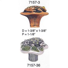 Frog Knob Watercress w/ Peridot Crystal w/ Olivine Eyes